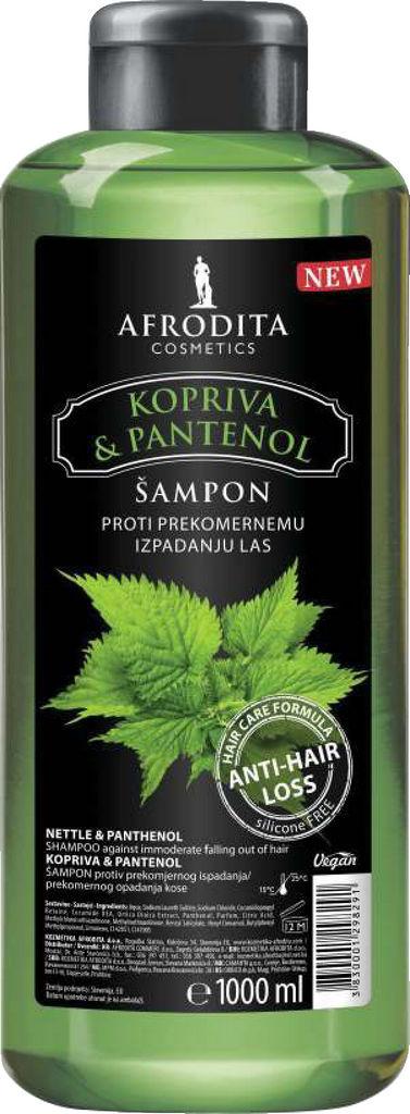 Šampon za lase Afrodita, Kopriva in Pantenol, 1 l