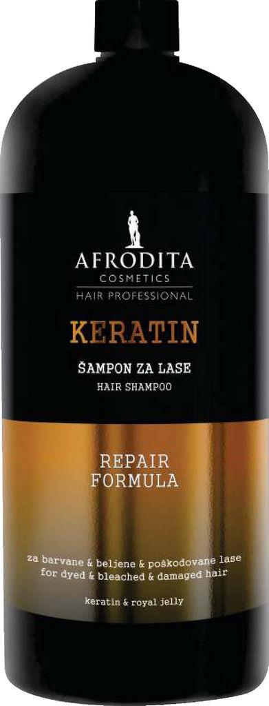 Šampon za lase Afrodita, Hair professional keratin, 1l