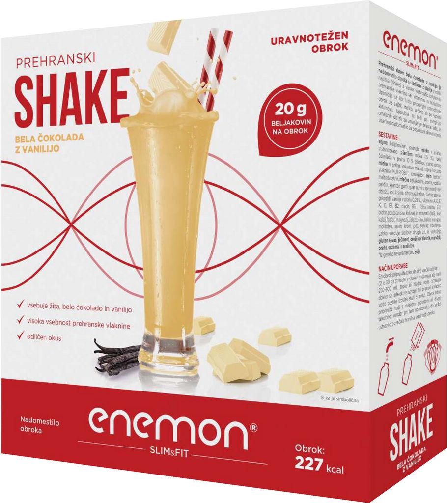 Shake Enemon Slim&Fit okus bela čokolada z vanilijo, 360g