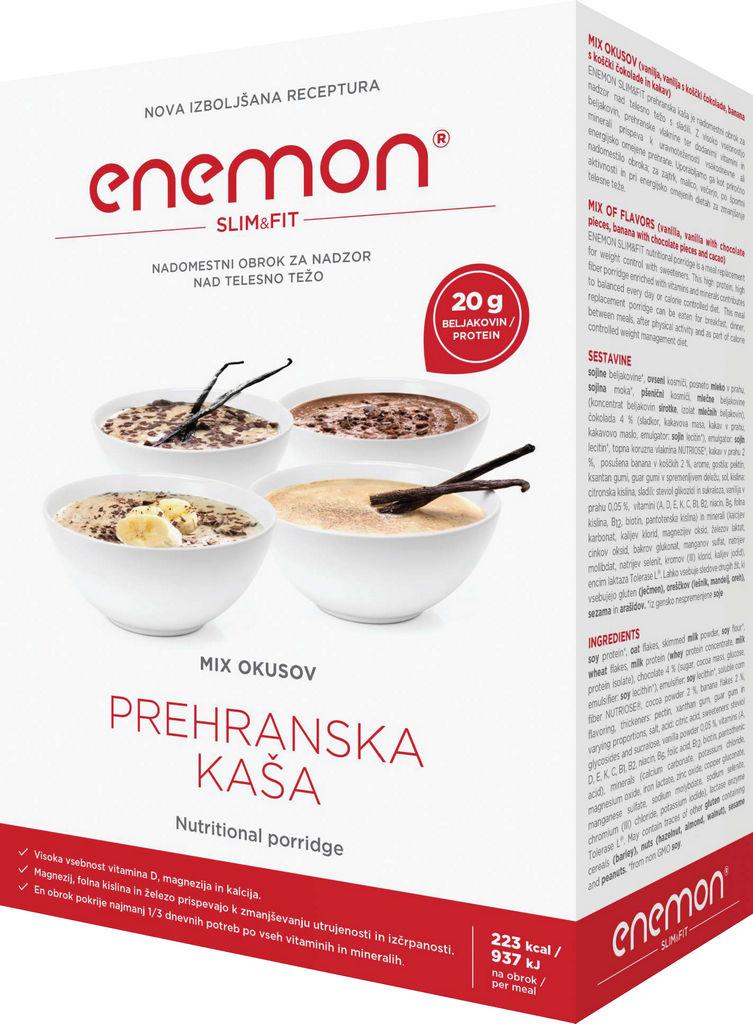 Enemon Slim&fit mix okusov,nadomestilo obroka 300g