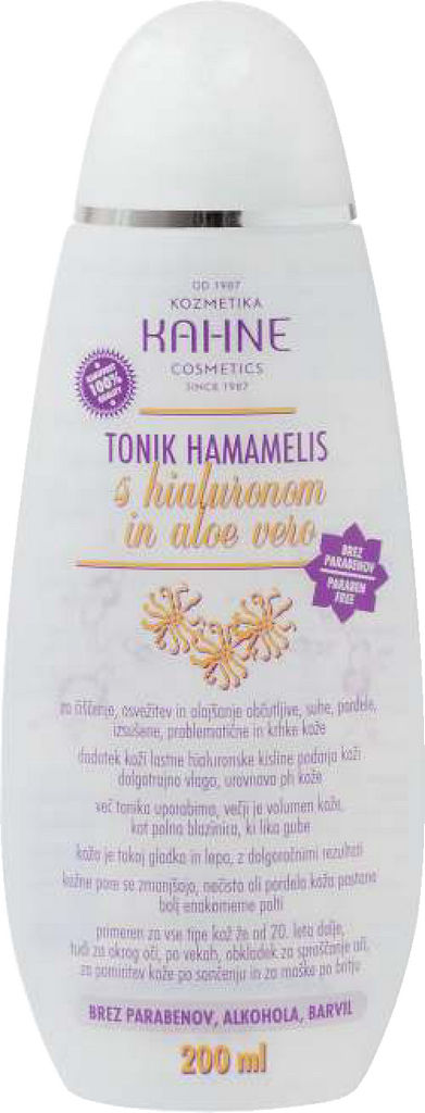 Tonik čistilni Kahne, Hamamelis, 200 ml