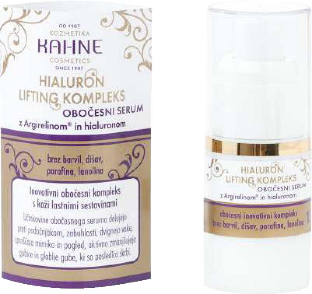 Serum obočesni Kahne, Hialuron lifting kompleks, 15 ml