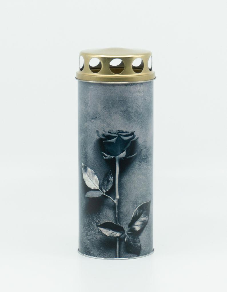Sveča Eko siva vrtnica, papirnata