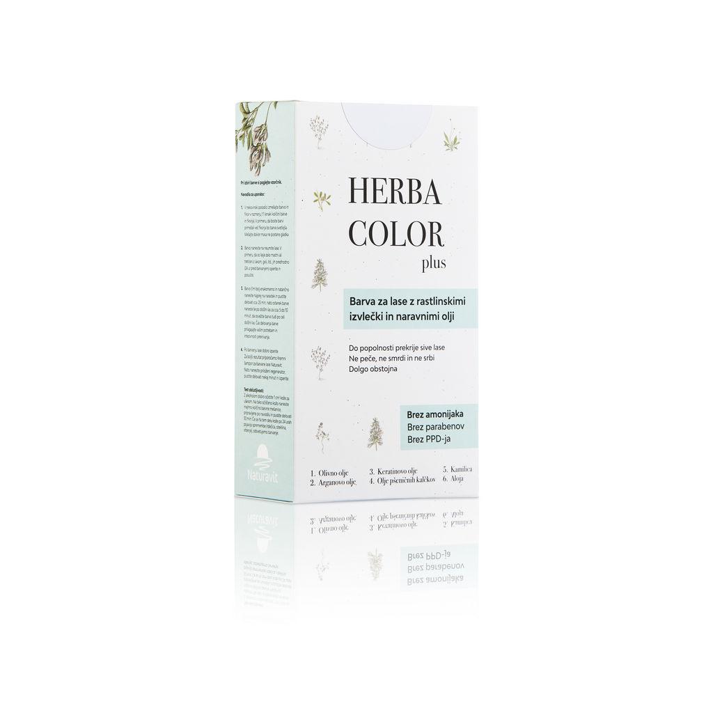 Barva za lase Herba color, črna, 1N