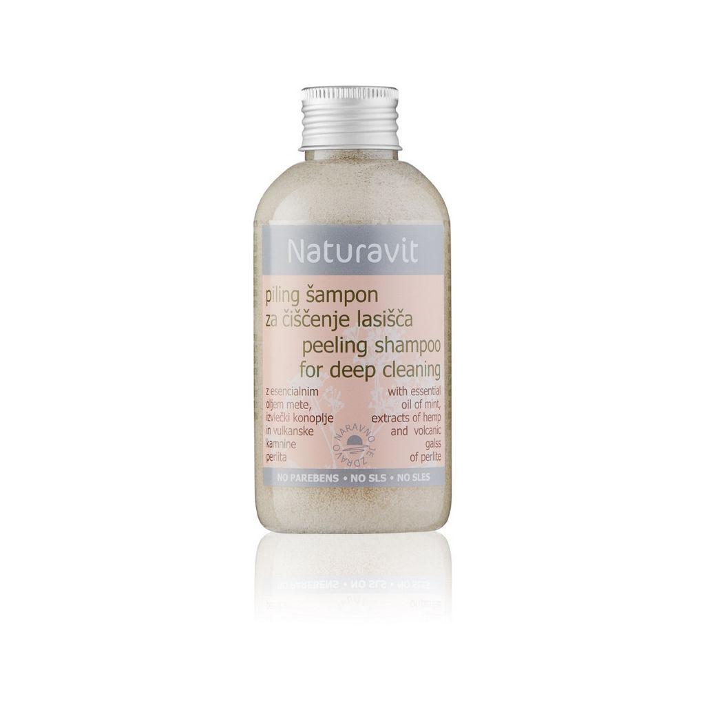 Šampon Naturavit, piling za čiščenje lasišča, 150 ml