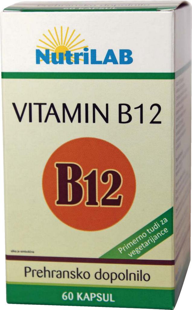 Prehransko dopolnilo Nutrilab, Vitamin B12, 60/1