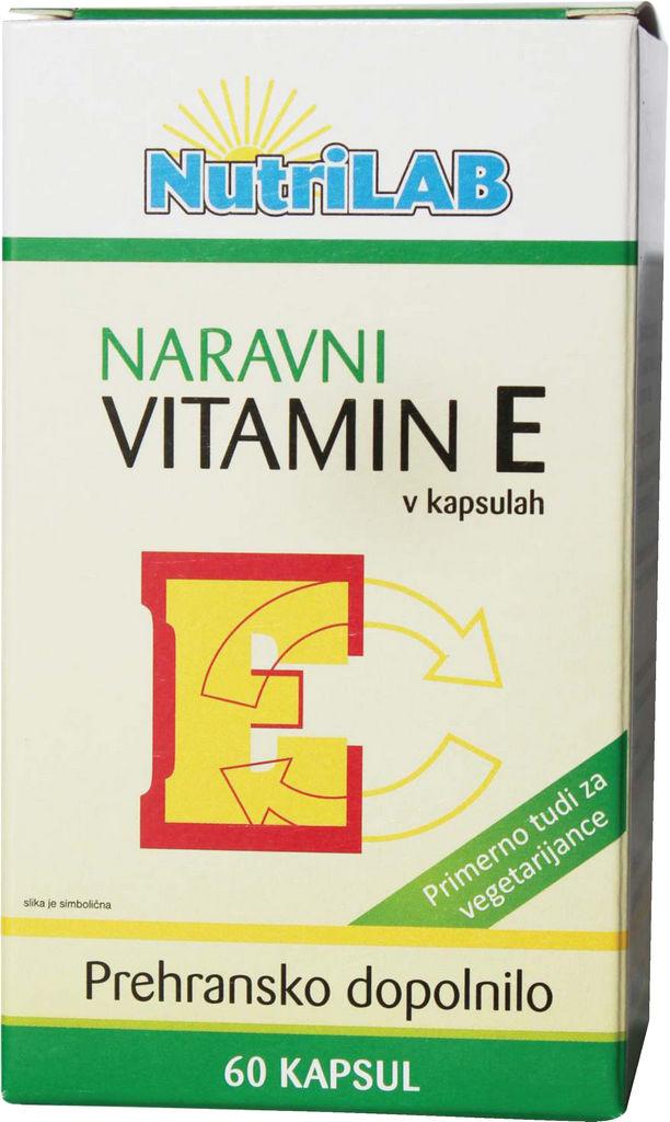Prehransko dopolnilo, Vitamin E naravni