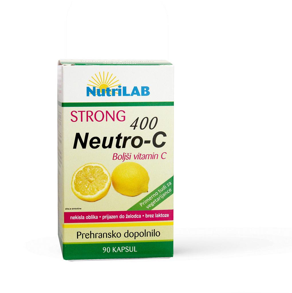 Prehransko dopolnilo Nutrilab, Neutro – C Strong 400, 90 kapsul
