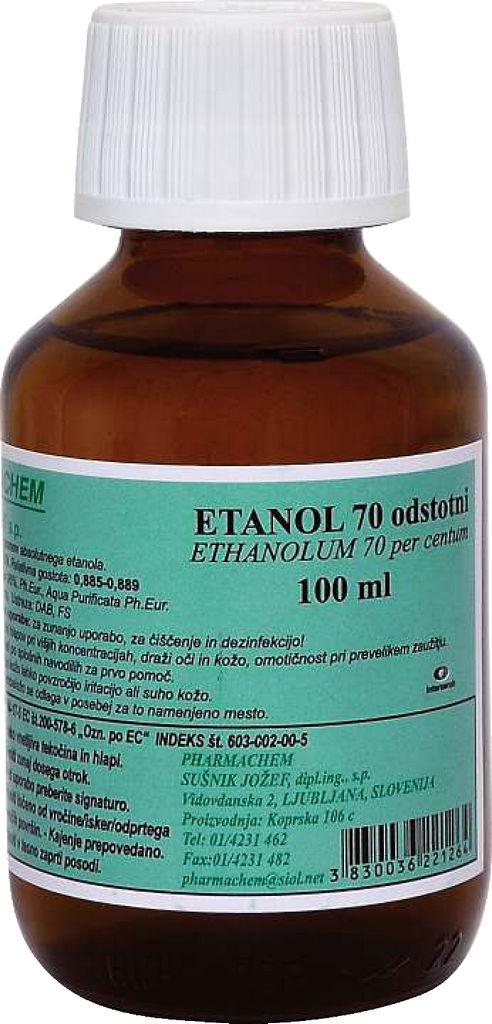 Etanol vsebnost alkohola 70%, 100 ml