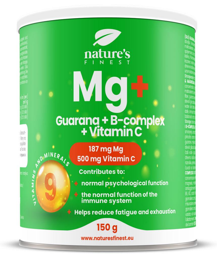 Prehransko dopolnilo Nutrisslim, Guarana + Magnezij + B-kompleks + Vitamin C, 150 g
