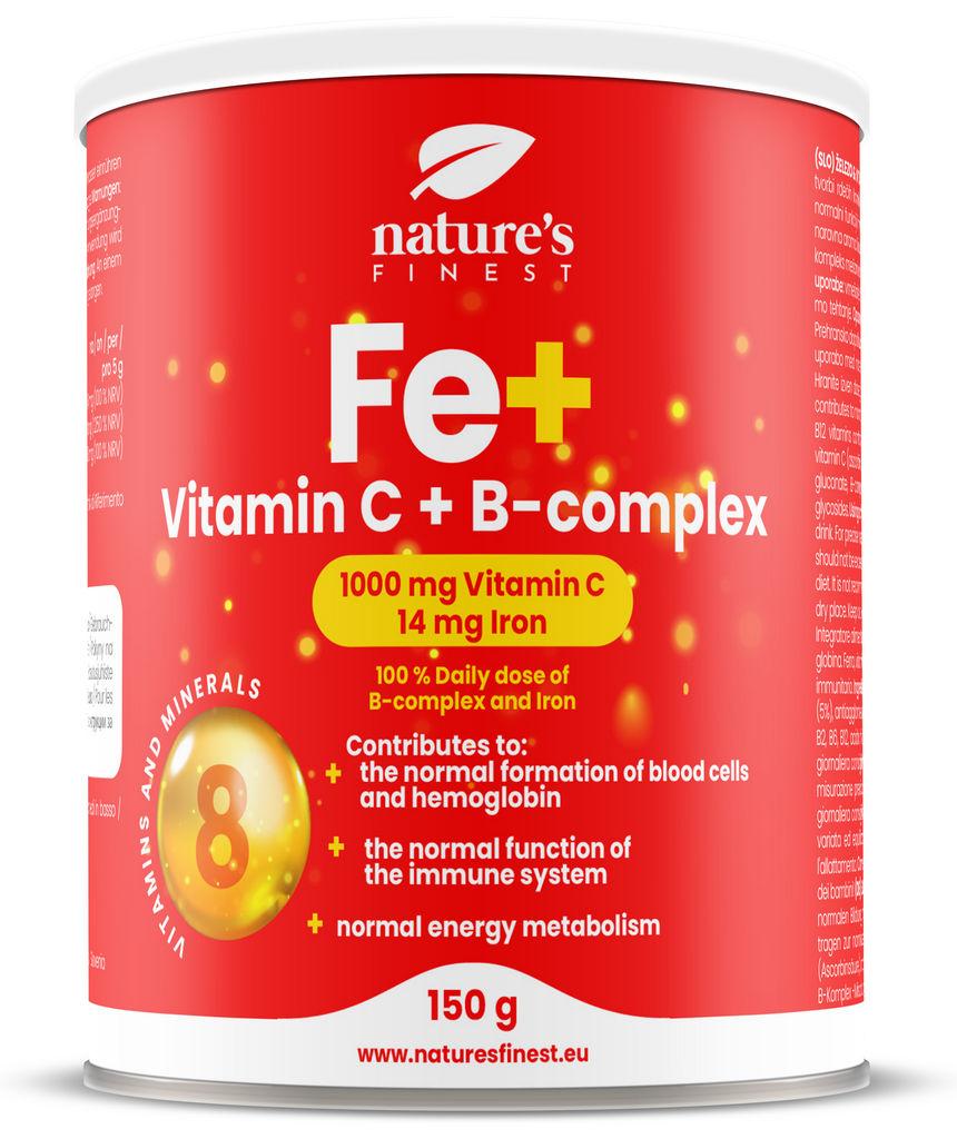 Prehransko dopolnilo Nutrisslim, Železo + Vitamin C + B-kompleks, 150 g