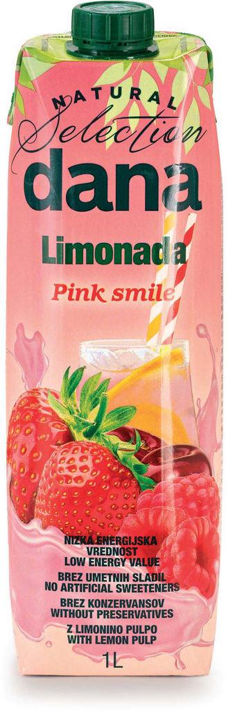 Pijača Dana, limonada, rdeče sadje, 1 l