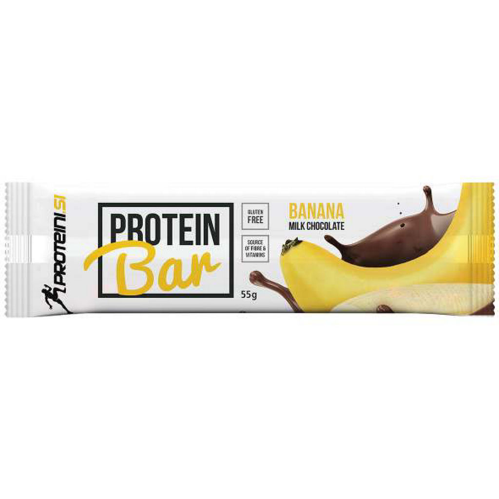 Ploščica Proteini.si, beljakovinska, banana, ml.čokolada, 55g