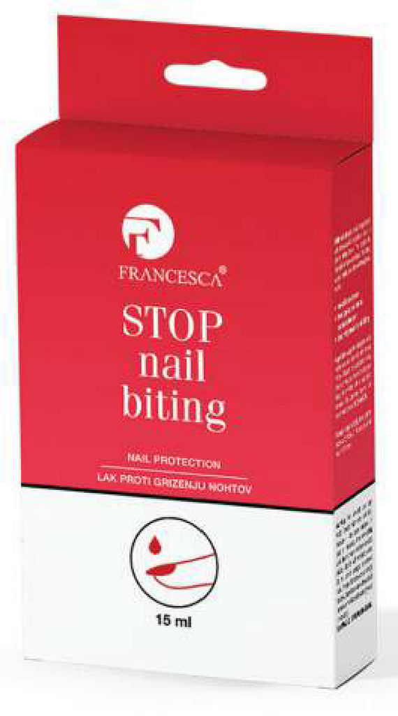 Lak za nohte Francesca, STOP nail biting-proti grizenju nohtov, 15 ml