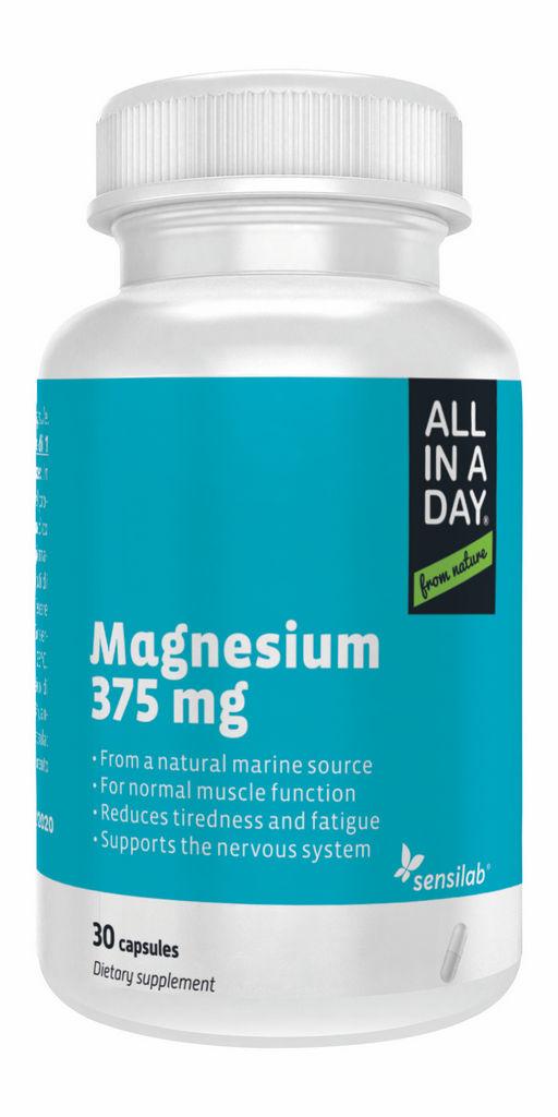 Prehransko dopolnilo Sensilab, ALL IN A DAY Magnezij 375mg, 30 kapsul