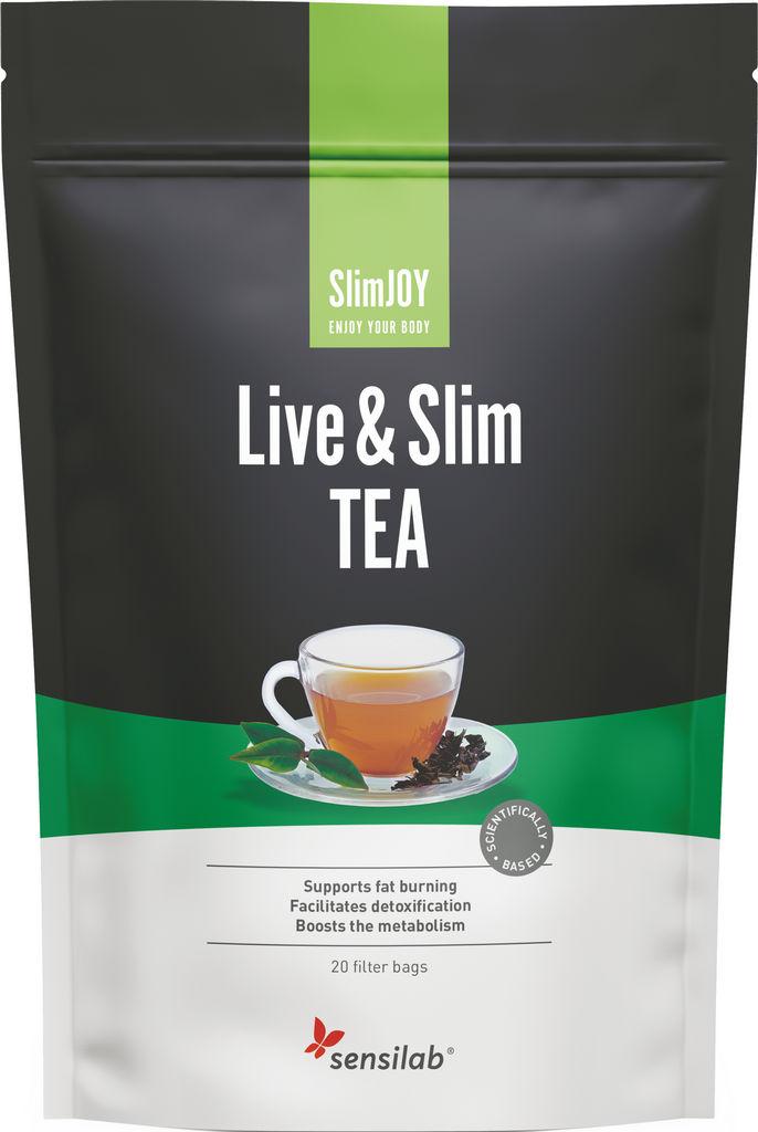 Čaj za hujšanje Sensilab, SlimJOY Live&Slim TEA, 20 vrečk, 30 g