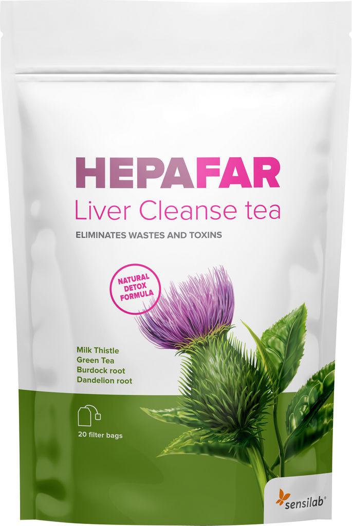 Čaj za razstrupljanje Sensilab, HEPAFAR Liver Cleanse, 20 vrečk, 30 g