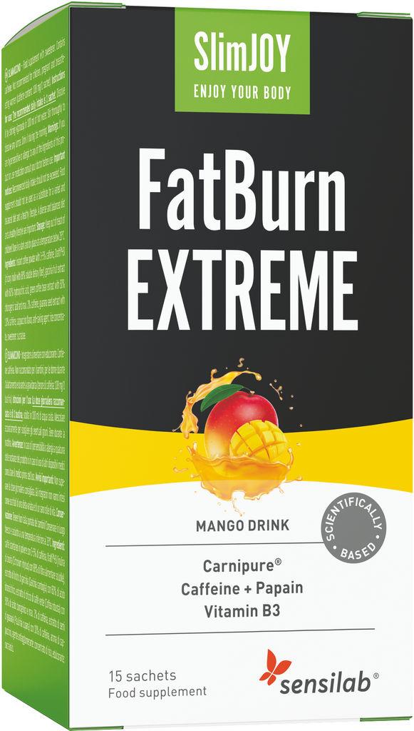 Prehransko dopolnilo Sensilab, SlimJOY FatBurn Extreme, 15 napitkov