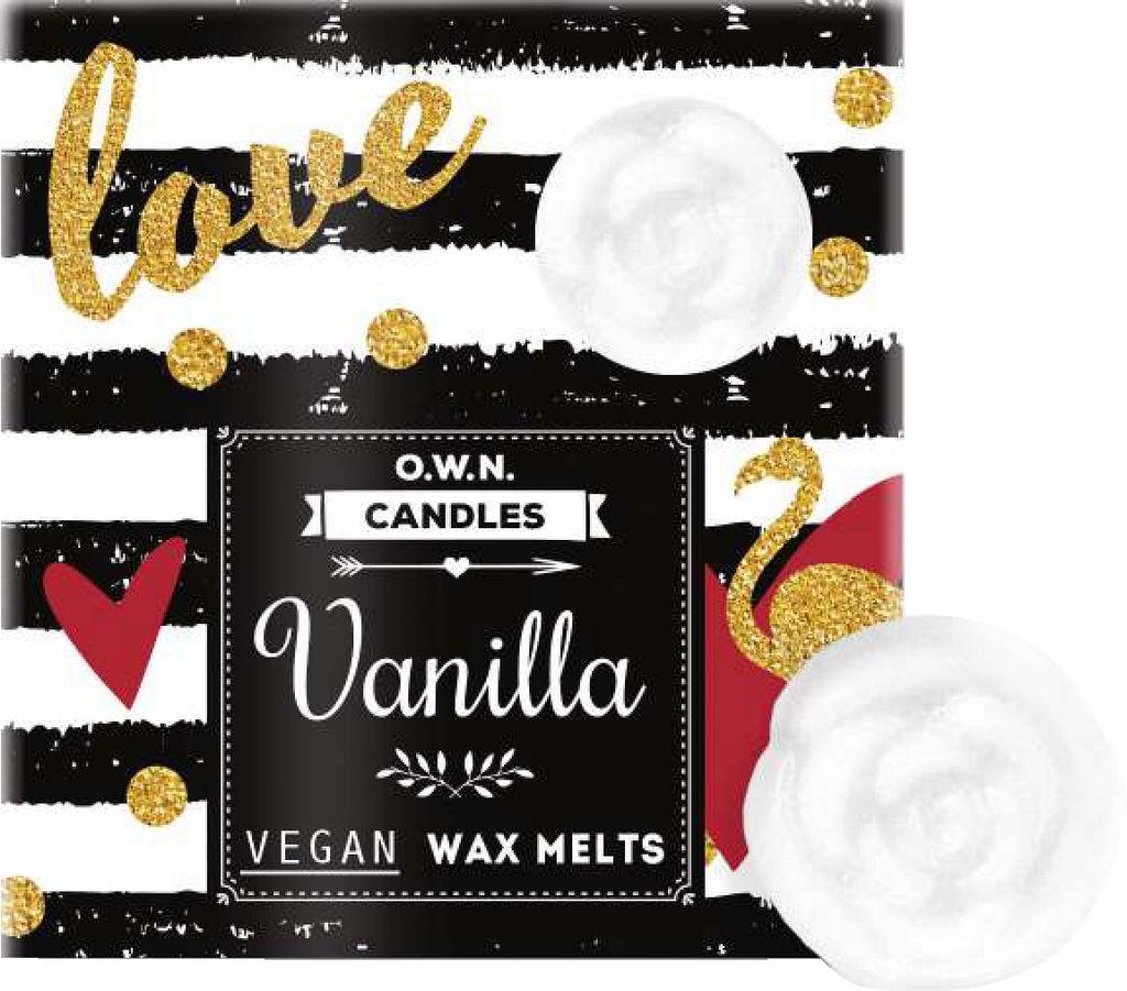 Vosek dišeči O.W.N. Candles v darilni škatlici, vanilija