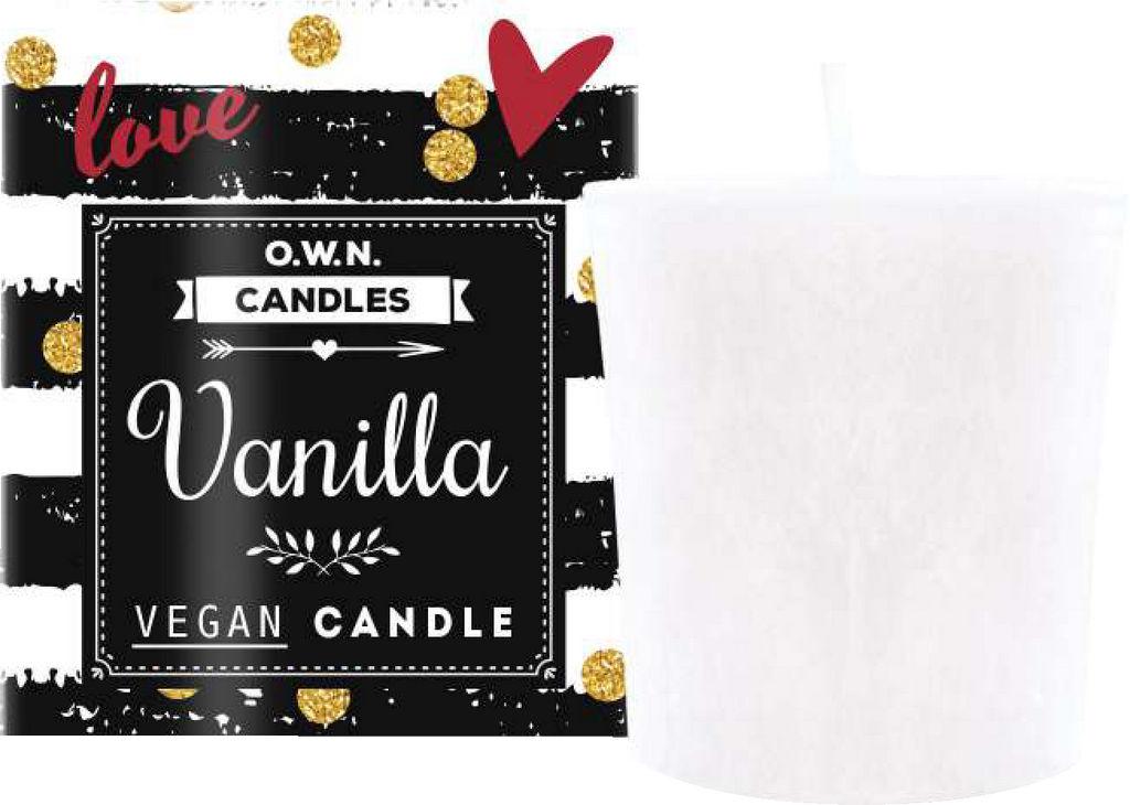 Sveča dišeča O.W.N candles votivna vanilija