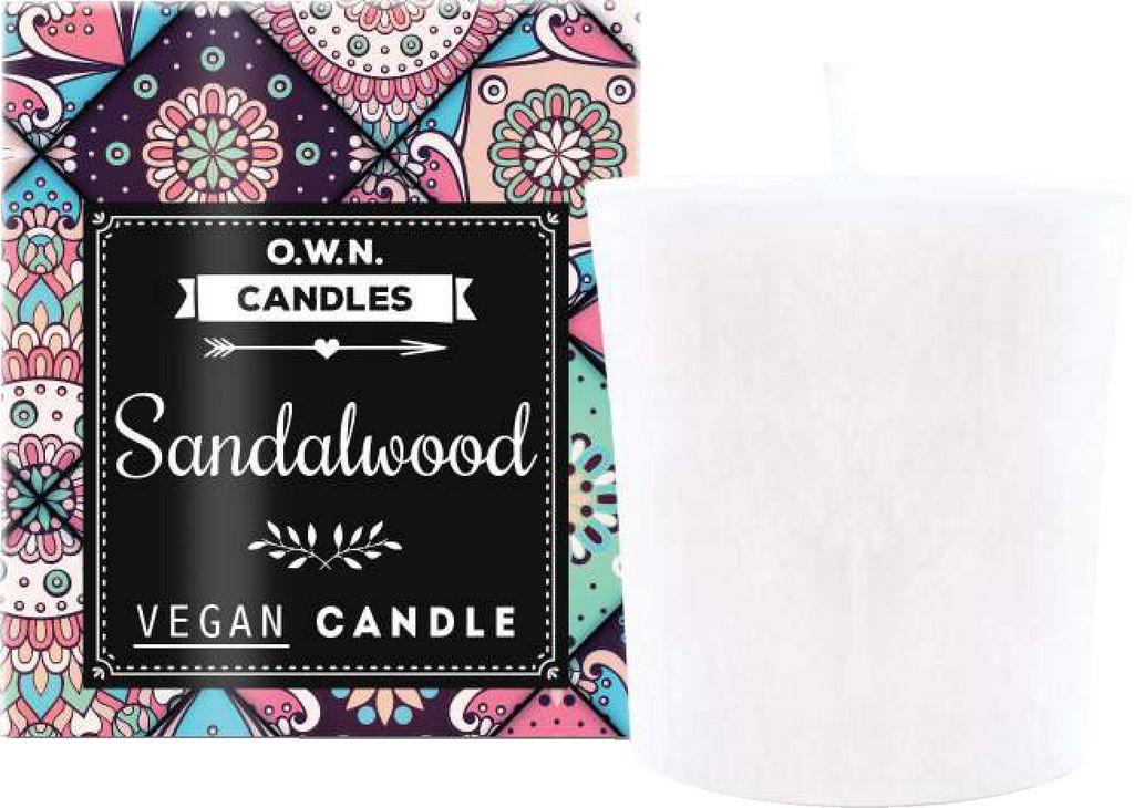 Sveča dišeča O.W.N candles votivna sandalwood