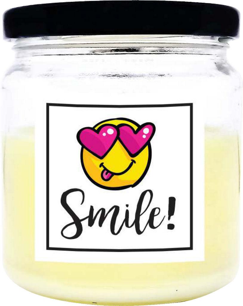 Sveča dišeča O.W.N. Candels,  v kozarcu Smile!