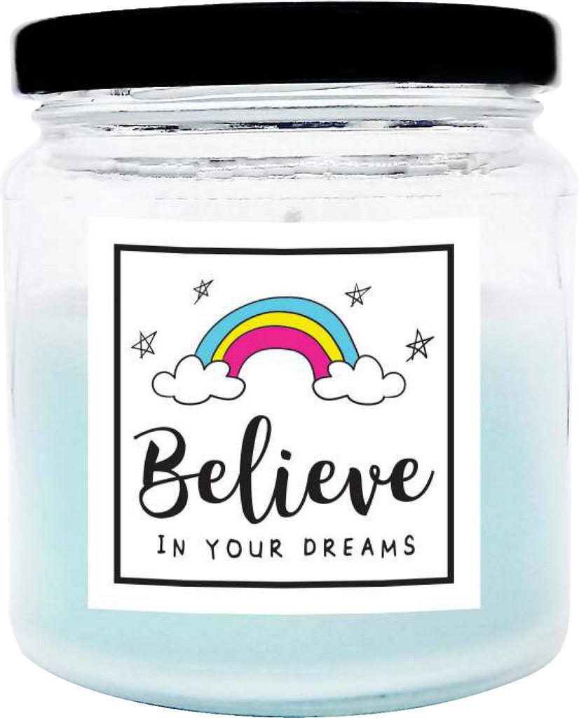 Sveča dišeča O.W.N. Candels,  v kozarcu Believe in your dreams