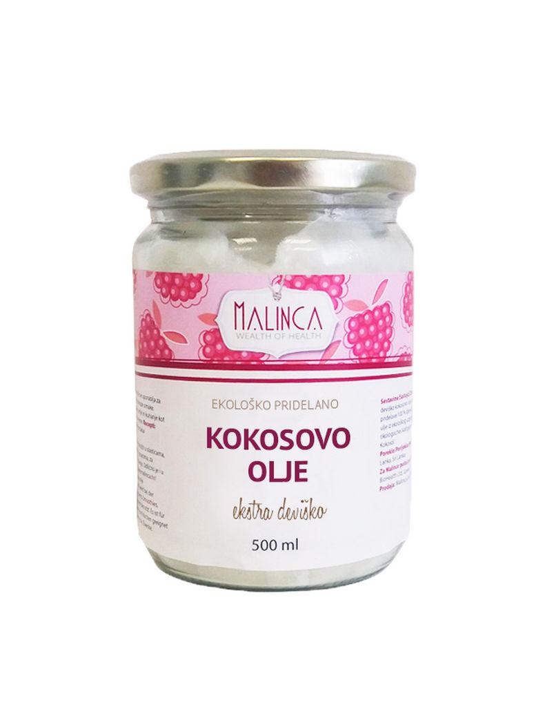 Olje kokosovo Bio Malinca, nerefinirano, 500 ml
