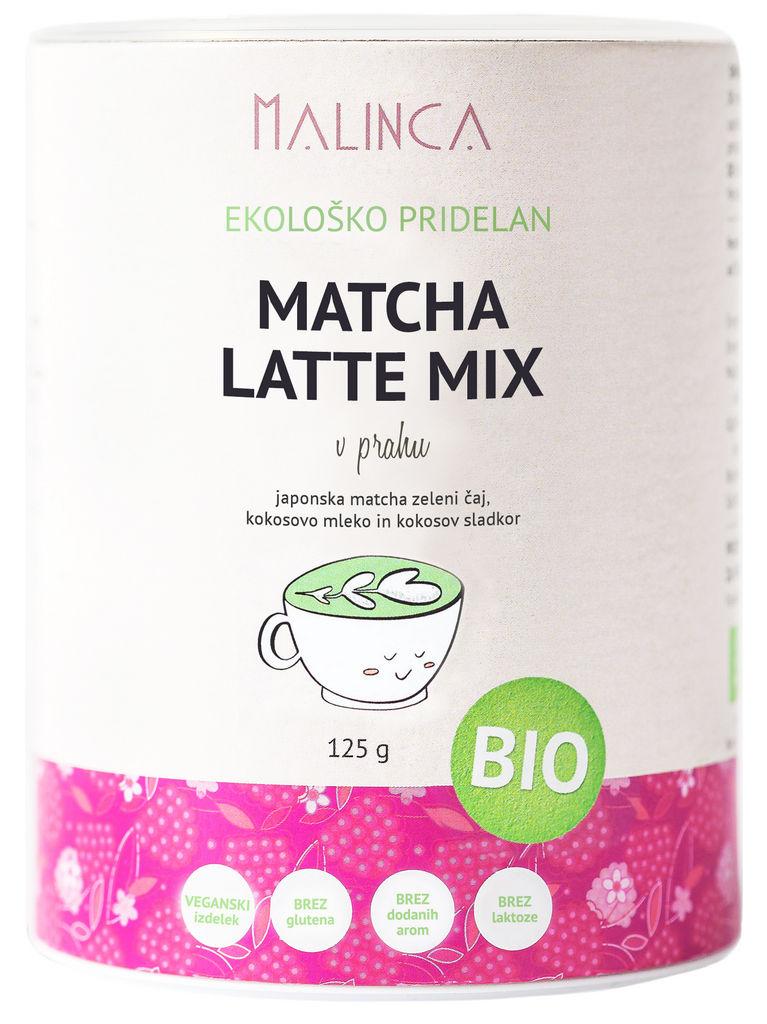 Matcha latte mix Bio Malinca, 125 g