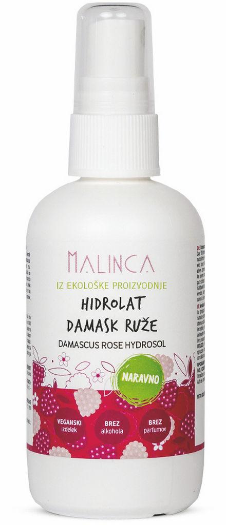 Hidrolat damaščanske vrtnice Bio Malinca, 100ml