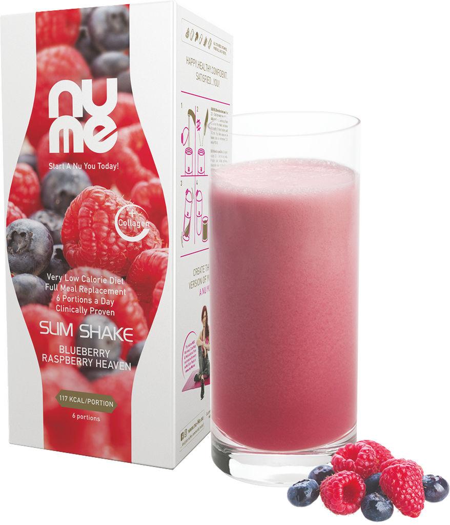 Napitek NuMe Slim Shake with Collagen, Blueberry Raspberry Heaven 6x33g