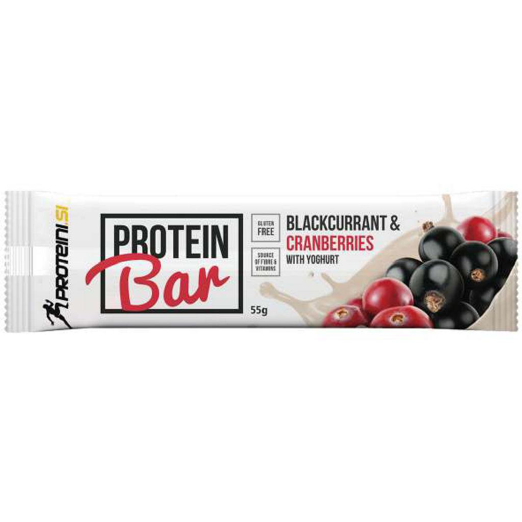 Ploščica Proteini.si, beljakovinska, črni ribez, brusnica, 55g