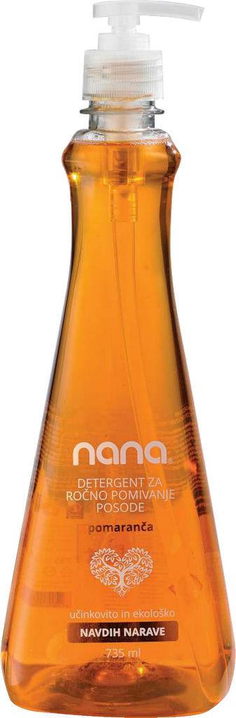 Detergent Nana za ročno pom.posode, pomaranča, 735ml