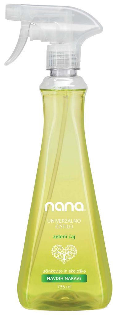 Čistilo Nana, univerzalno, zeleni čaj, 735ml