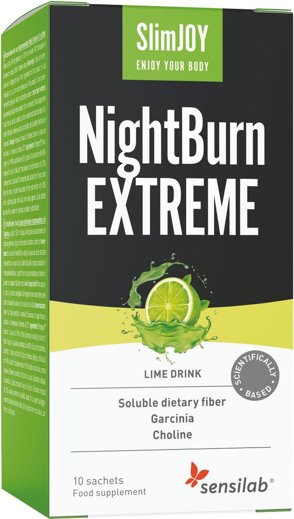 Prehransko dopolnilo Sensilab, SlimJOY NightBurn Extreme, 10 napitkov
