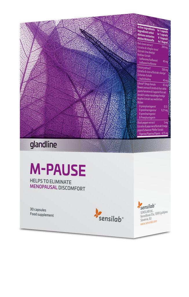 Prehransko dopolnilo Sensilab, glandline M-pause, 30 kapsul