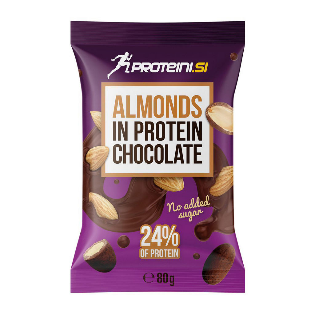 Almonds in Protein Chocolate, Proteini.si, 80 g