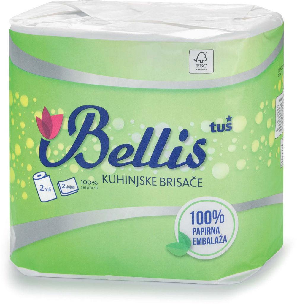 Papirnate brisače Bellis, kuhinjske, Eco, 2sl.100list