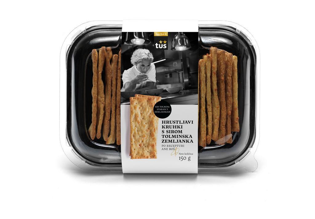 Kruhki hrustljavi Ana Roš & Tuš, s sirom Zemljanka, 150 g