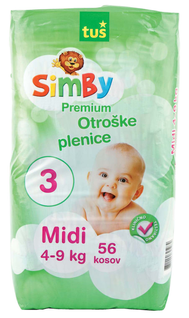 Plenice Simby, midi, 4 do 9kg, 56/1