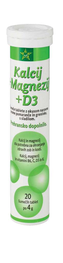 Tablete Tuš, šumeče, magn., kalcij, D3, 80 g