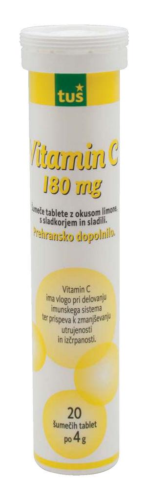 Tablete Tuš, šumeče, vitamin C, 80g
