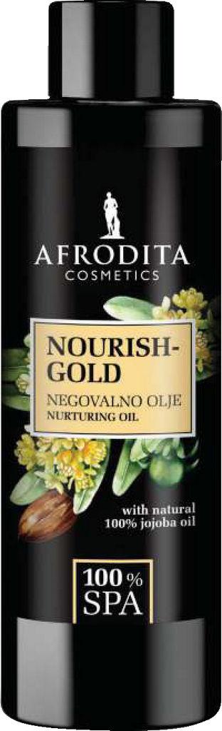Olje masažno Afrodita, 100% SPA Relax Nourish Gold, 150 ml