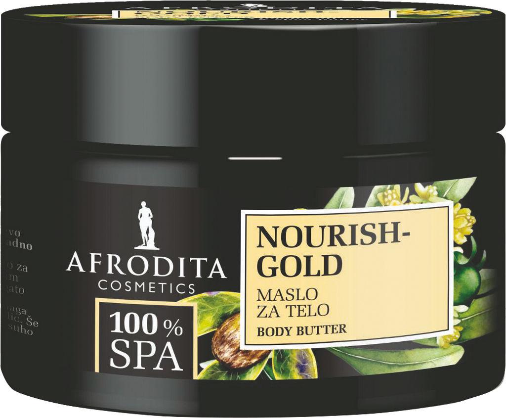 Maslo za telo Afrodita, 100% SPA Nourish Gold, 200 ml