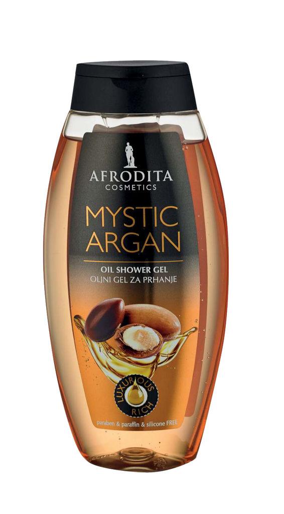 Gel za prhanje oljni Afrodita, Mystic Argan, 250 ml