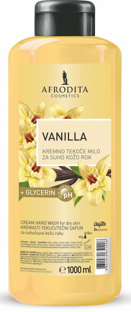 Milo Afrodita, Kremno tekoče milo Vanilla, 1 l