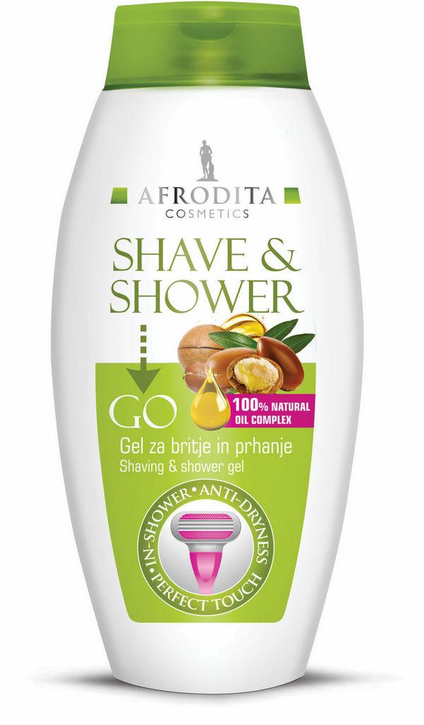 Gel za britje in prhanje Afrodita, Shave&Shower, 250 ml