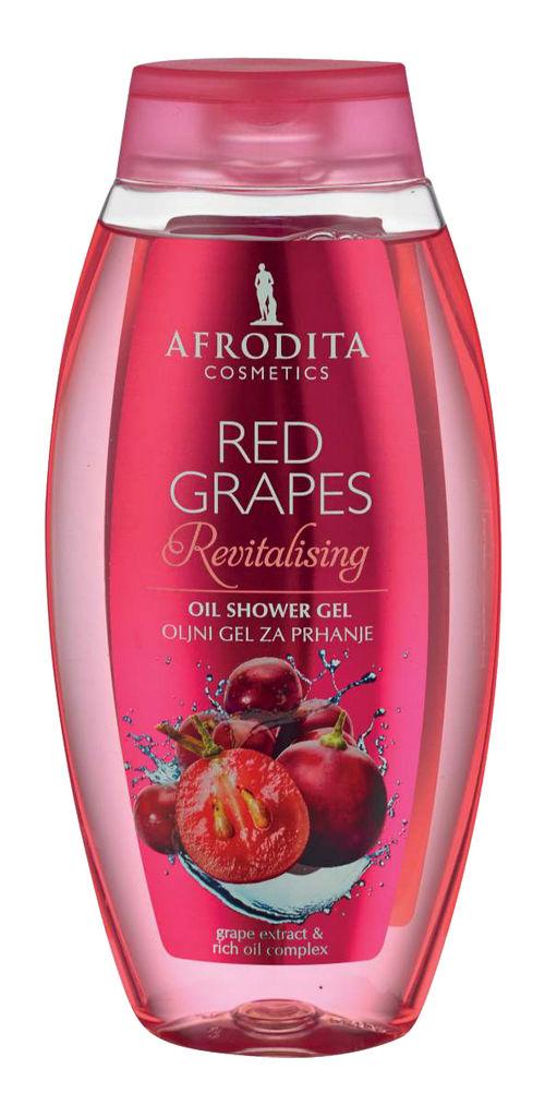 Gel za prhanje oljni Afrodita, Red grapes, 250 ml