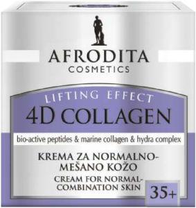 Krema za obraz Afrodita, 4D Collagen za normalno-mešano kožo, 50 ml