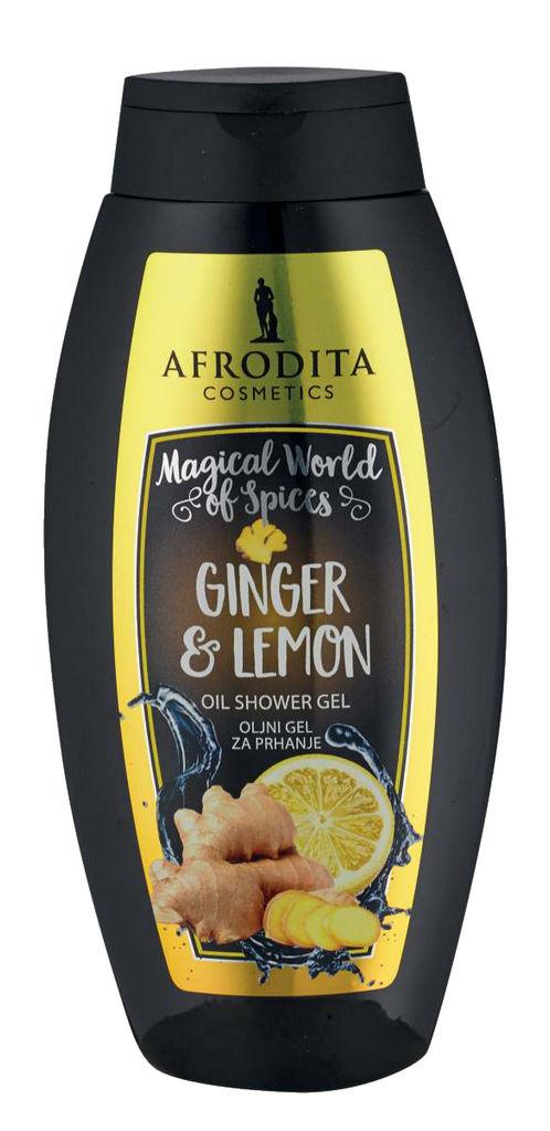Gel za prhanje Afrodita, Ginger & Lemon, 250 ml